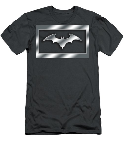 Silver Bat Transparent Men's T-Shirt (Athletic Fit)