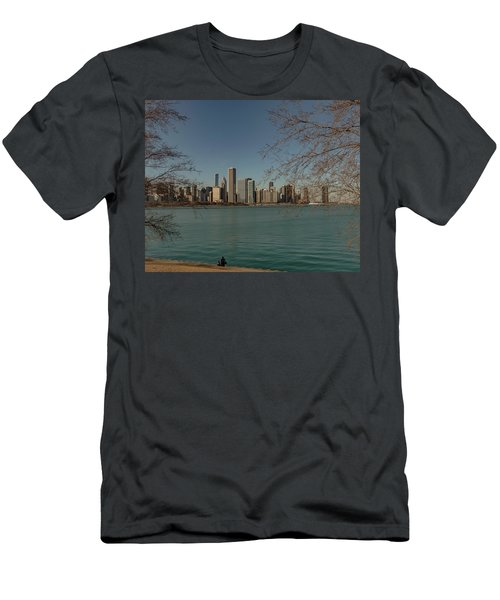 Sitting On A Summer Day Men's T-Shirt (Athletic Fit)
