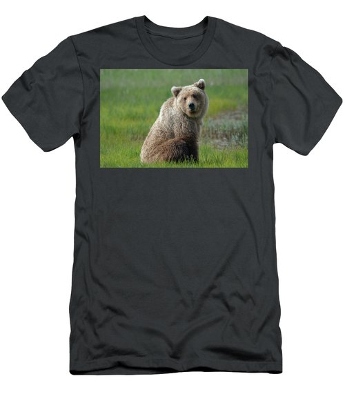 Sitting Peacefully Men's T-Shirt (Athletic Fit)