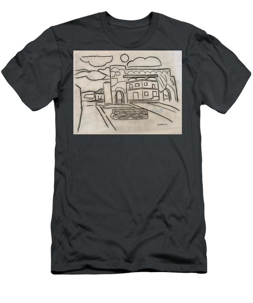 Sketch Of Arch Laguna Del Sol Men's T-Shirt (Athletic Fit)