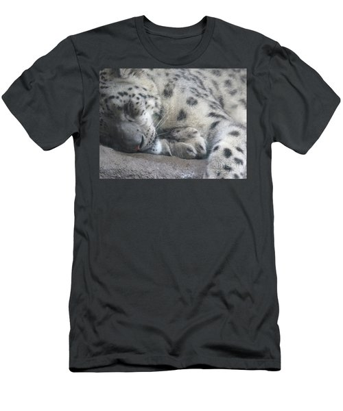 Sleeping Cheetah Men's T-Shirt (Athletic Fit)