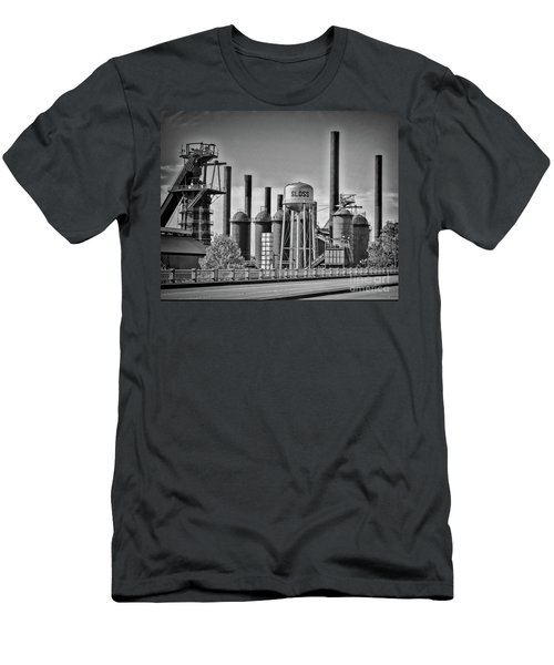 Sloss Furnaces Towers Men's T-Shirt (Athletic Fit)
