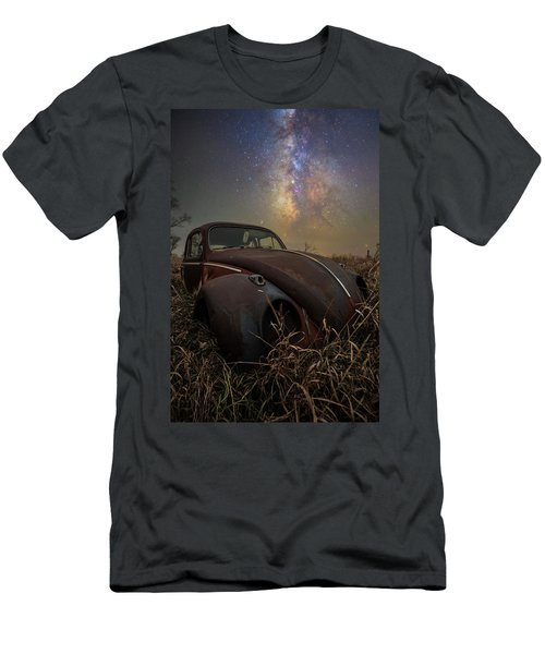 Men's T-Shirt (Athletic Fit) featuring the photograph Slug Bug 'rust' by Aaron J Groen