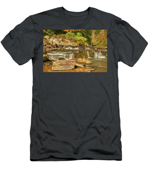 Men's T-Shirt (Athletic Fit) featuring the photograph Small Mountain Stream by Meta Gatschenberger