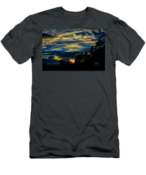 Men's T-Shirt (Athletic Fit) featuring the photograph Small Sunset by Meta Gatschenberger