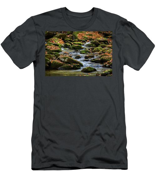 Smokey Mountain Cascades Men's T-Shirt (Athletic Fit)