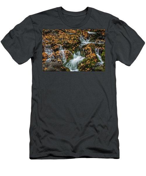 Smokey Mountain Falls Men's T-Shirt (Athletic Fit)