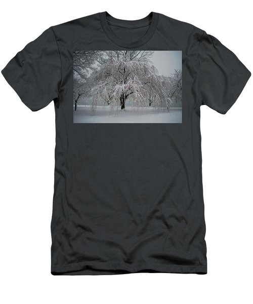 Snow And Mist By The River Men's T-Shirt (Athletic Fit)