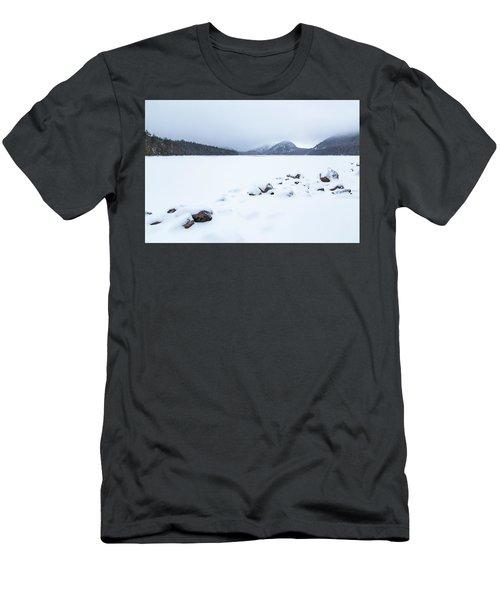 Snow Cover Jordan Pond Men's T-Shirt (Athletic Fit)