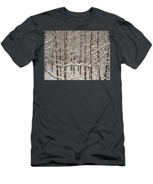 Men's T-Shirt (Athletic Fit) featuring the photograph Snow Covered Trees by Louis Dallara