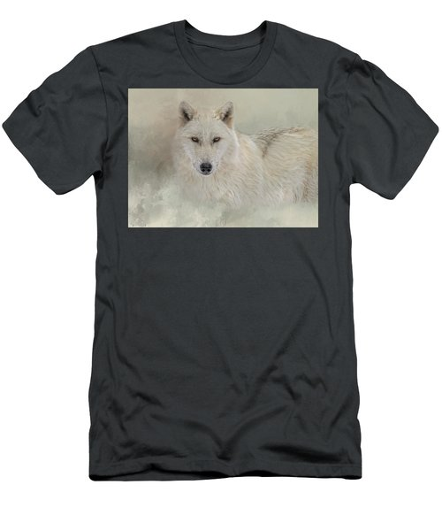 Snow Wolf Men's T-Shirt (Athletic Fit)