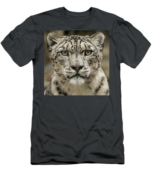 Snowleopardfacial Men's T-Shirt (Athletic Fit)