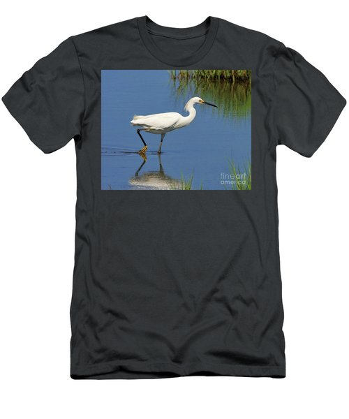 Men's T-Shirt (Athletic Fit) featuring the photograph Snowy Egret by Debbie Stahre