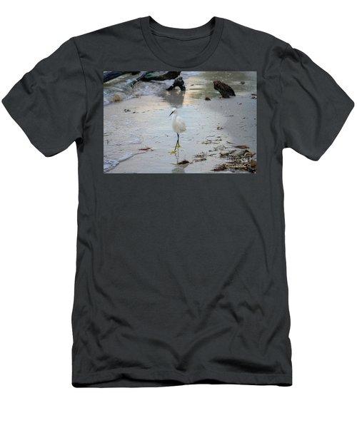 Snowy Egret Men's T-Shirt (Athletic Fit)