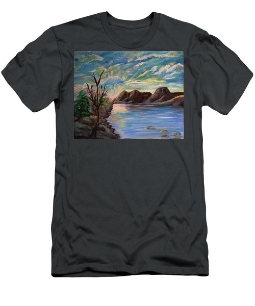 Snowy Range And Lookout Lake Men's T-Shirt (Athletic Fit)