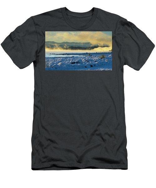 Snowy Shoreline Sunrise Men's T-Shirt (Athletic Fit)