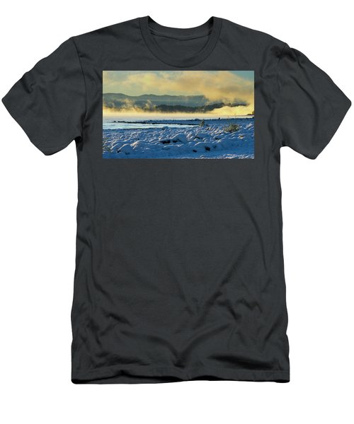 Snowy Shoreline Sunrise Men's T-Shirt (Athletic Fit)
