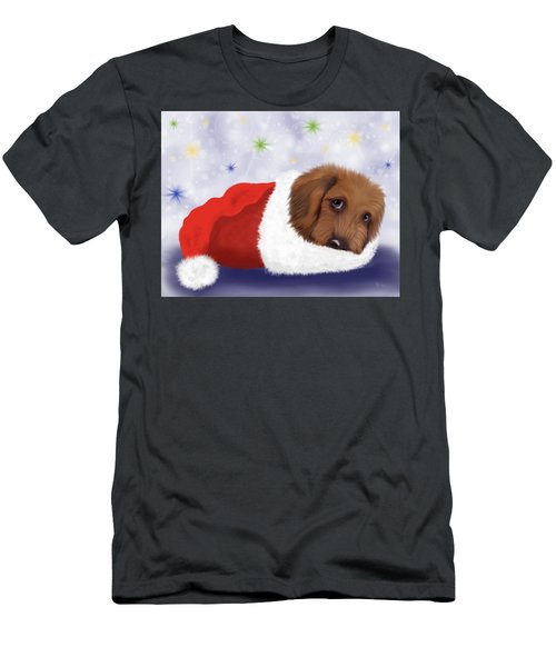 Snuggle Puppy Men's T-Shirt (Athletic Fit)