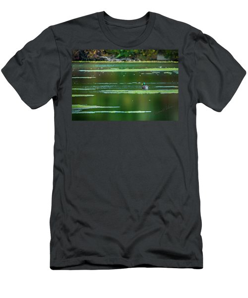 Men's T-Shirt (Athletic Fit) featuring the photograph Solitary Mallard Drake by Edward Peterson