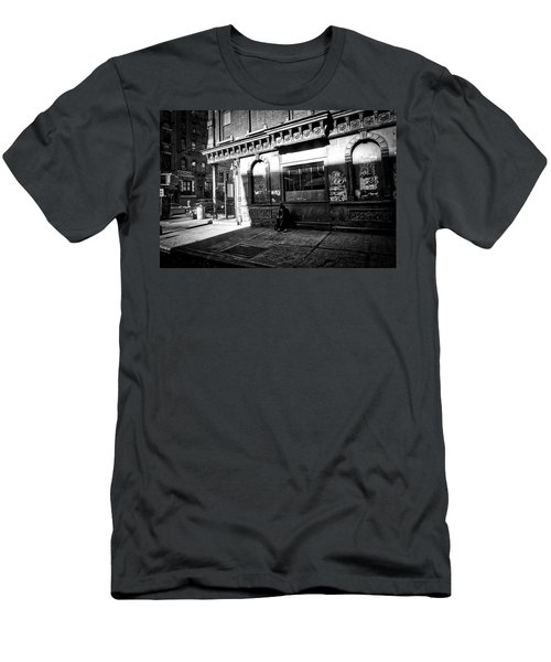 Men's T-Shirt (Athletic Fit) featuring the photograph Solitary Man by Joan Reese