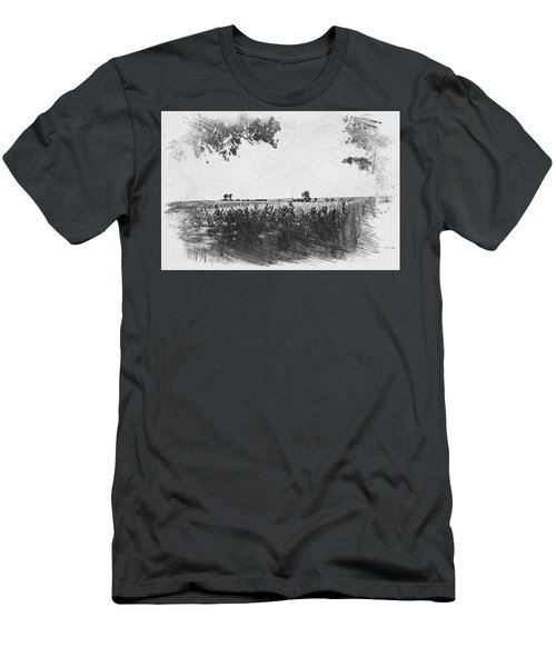 Men's T-Shirt (Athletic Fit) featuring the photograph Somme Sketch by JLowPhotos