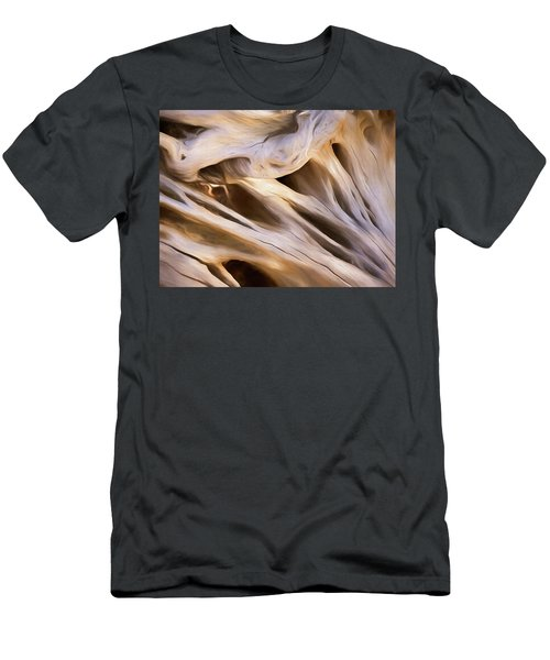 Men's T-Shirt (Athletic Fit) featuring the mixed media Spare Root 3 by Lynda Lehmann
