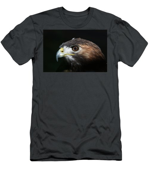 Men's T-Shirt (Athletic Fit) featuring the photograph Sparkle In The Eye - Red-tailed Hawk by Debi Dalio