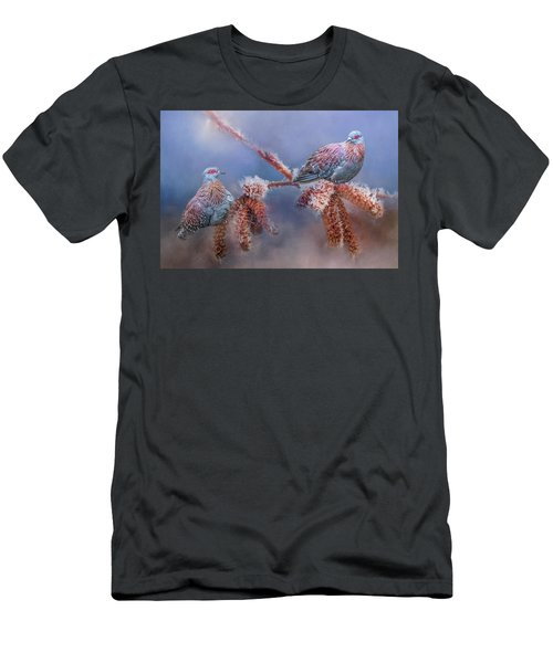 Speckled Pigeons Men's T-Shirt (Athletic Fit)