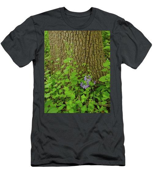 Splash Of Purple Men's T-Shirt (Athletic Fit)