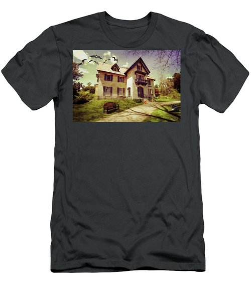Men's T-Shirt (Athletic Fit) featuring the photograph Spooky Mansion  by Trina Ansel