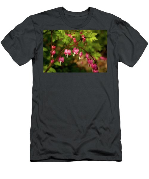 Spring Blooms Hearts Men's T-Shirt (Athletic Fit)