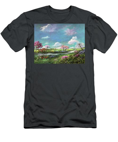 Spring In The Garden Of Eden Men's T-Shirt (Athletic Fit)