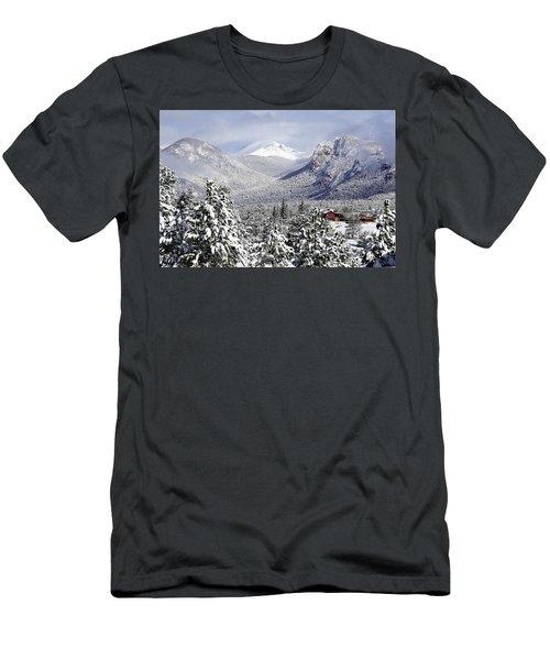 Spring Snow In Estes Park Colorado Men's T-Shirt (Athletic Fit)