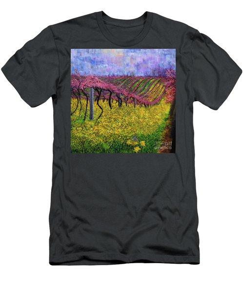 Spring Vineyard Men's T-Shirt (Athletic Fit)