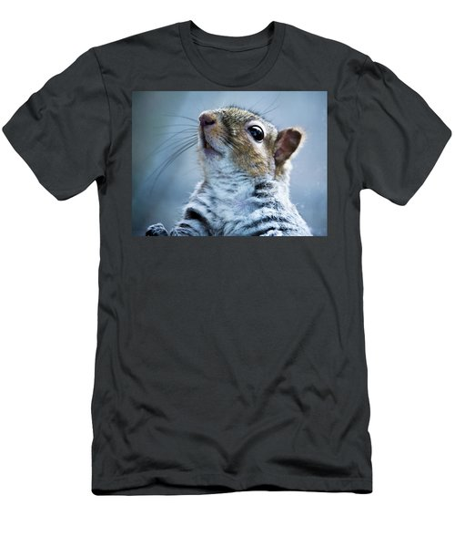 Squirrel With Nose In The Air Men's T-Shirt (Athletic Fit)