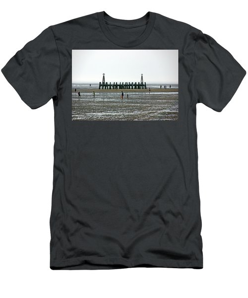 St. Annes. On The Beach. Men's T-Shirt (Athletic Fit)