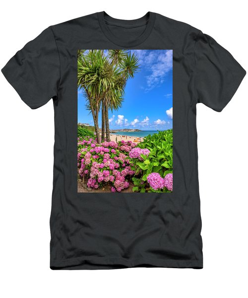 St Ives Cornwall - Summer Time Men's T-Shirt (Athletic Fit)