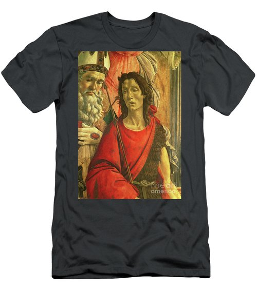 St John The Baptist, Detail From The Altarpiece Of St Barnabas Circa 1487 Men's T-Shirt (Athletic Fit)