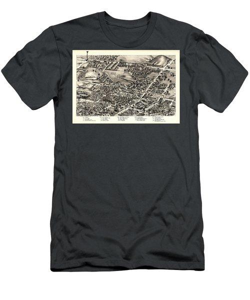 St. Louis Missouri Map 1875 Men's T-Shirt (Athletic Fit)