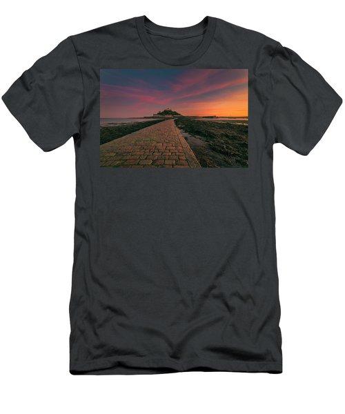 St Michael's Mount Sunset Men's T-Shirt (Athletic Fit)