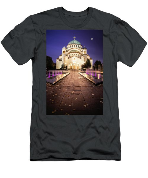 St. Sava Temple In Belgrade Nightscape Men's T-Shirt (Athletic Fit)