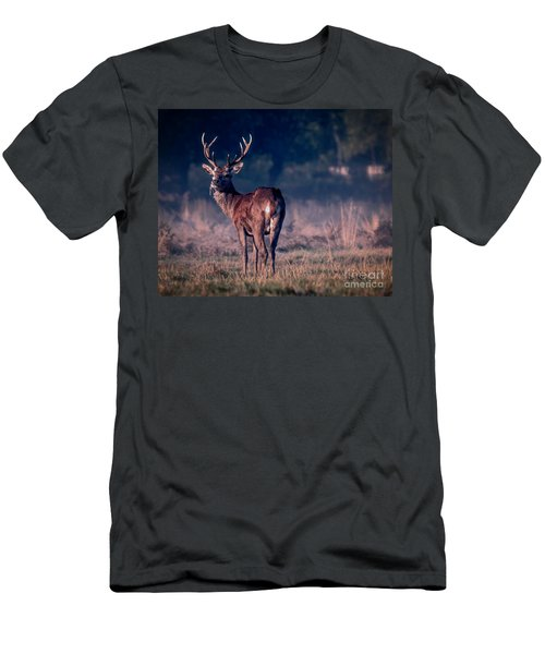 Stag Eating Men's T-Shirt (Athletic Fit)