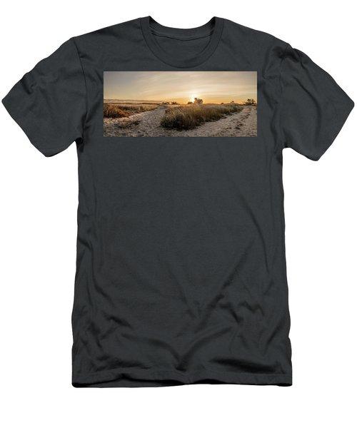 Stage Harbor Sunrise Men's T-Shirt (Athletic Fit)