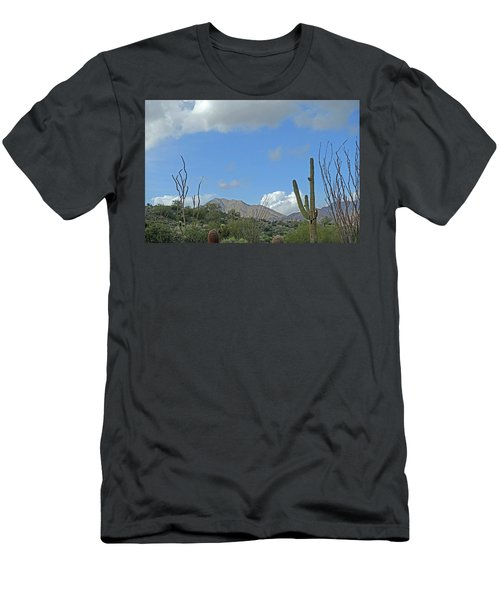 Men's T-Shirt (Athletic Fit) featuring the photograph Staged Beauty  by Lynda Lehmann
