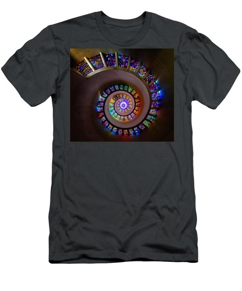 Stained Glass Spiral Men's T-Shirt (Athletic Fit)