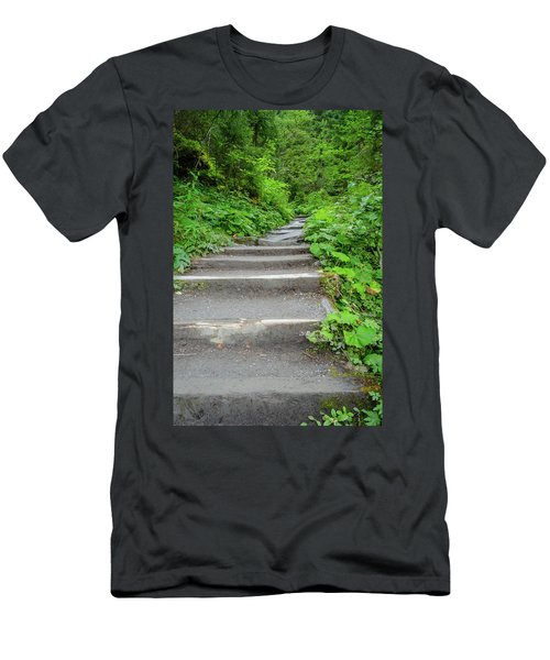 Stairs To The Woods Men's T-Shirt (Athletic Fit)