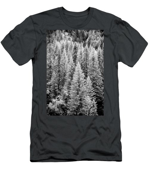 Standing Tall In The French Alps Men's T-Shirt (Athletic Fit)