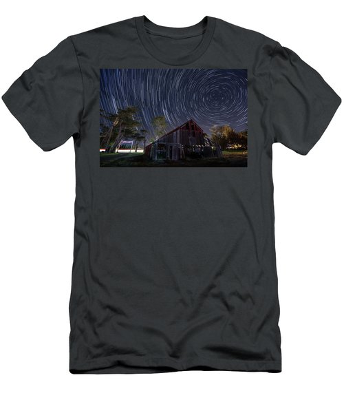 Star Trails Over Bonetti Ranch Men's T-Shirt (Athletic Fit)