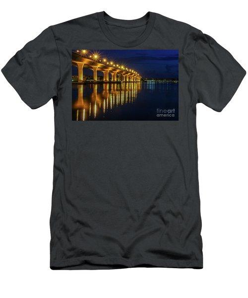 Starburst Bridge Reflection Men's T-Shirt (Athletic Fit)