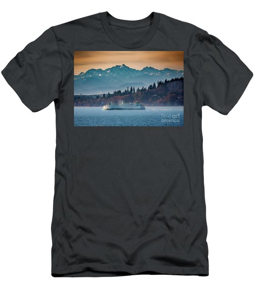 State Ferry And The Olympics Men's T-Shirt (Athletic Fit)